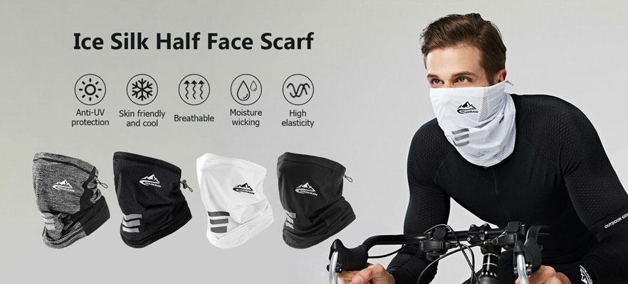 Ice Silk Half Face Scarf