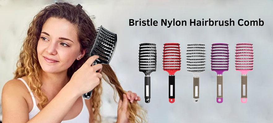 Bristle Nylon Hairbrush Comb