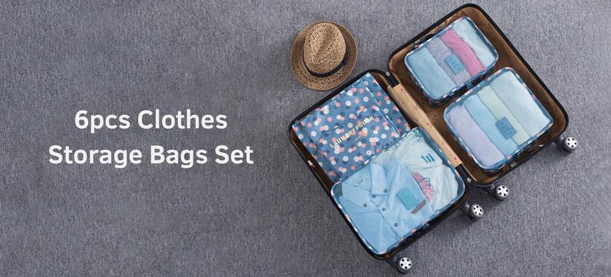 6Pcs Clothes Storage Bags Set