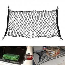 110x50cm Car Cargo Tidy Net Boot Trunk Storage Organizer Luggage for SUV Hatchback - Black