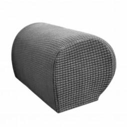 1 Pair of Polar Fleece Removable Sofa Armrest Cover Armchair Couch Chair Arm Protector - Grey