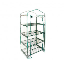 4 Tier Mini Greenhouse Walk In Grow Bag Replacement PVC Cover Casing (Cover only)