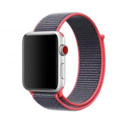 42mm Sports Nylon Wrist Band Watchband Strap Bracelet for Apple Watch - Pink + Grey