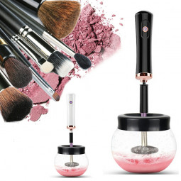 Electric Make up Brush Cleaner Dryer Set Machine Cosmetic Auto Clean Quick Dry - Black