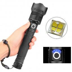 XHP70 USB Charging Battery Display High Power Telescopic Zoom LED Flashlight Hand Light