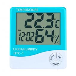 Digital LCD Thermometer Hygrometer Humidity Meter Room Indoor Temperature Clock - Green