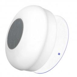 Waterproof Mini Portable Hands-free Bluetooth Speaker with Sucker - White