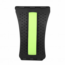 Magic Back Support Stretcher Lower Relief Lumbar Pain Back Massager Posture Corrector - Black + Green