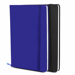 Silvine Executive Soft Feel Notebook with Strap Ruled Ivory Paper A5 - Dark Blue