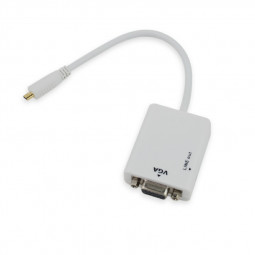Micro HDMI M to VGA+Audio F Adapter Cable