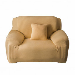 Stretch Sofa Covers Polar Fleece Knitted Slipcovers One Seat - Beige