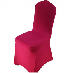 Full Cover Elastic Chair Cover Hotel Weddings Party Christmas Banquet Dining Office Chair Cover - Wine Red