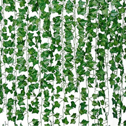 Parthenocissus Leaves Artificial Hanging Plants Faux Greenery Vines Fake Garland