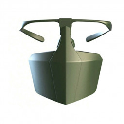 Protective Face Shield Filter Mask Anti-droplets Anti-splash Dust Reusable Isolation Mask - Green