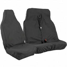 Black Waterproof Van Seat Covers  2+1 for Ford Transit Car Seat Cover Protector Set