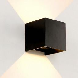 LED Wall Light Outdoor Indoor UP-down Wall Spot Facade Lamp Spotlight Spot Sconce - Black Shell Warm Light