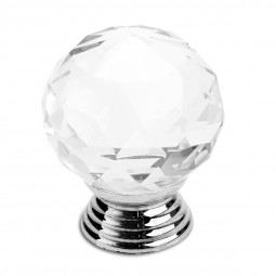 Crystal Cut Glass Circle Ball Drawer Cupboard Pulls Passage Door Knobs
