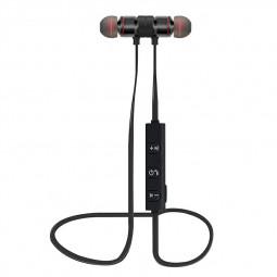 Magnet Wireless Bluetooth Earphone Stylish Sports Headset - Black