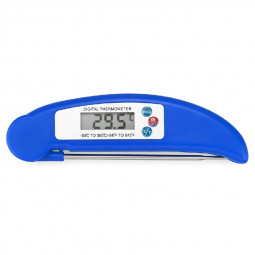 Digital Food Thermometer Probe for BBQ Meat Turkey Jam - Blue