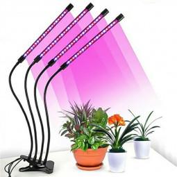 4 Head LED Grow Light Plant UV LED Growing Lamp Full Spectrum 10 Dimmable Level