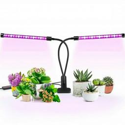 2 Head LED Grow Light Plant UV LED Growing Lamp Full Spectrum 10 Dimmable Level