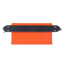 10 Inch Saker Upgrade Contour Gauge Profile Tool Contour Duplicator With 2 Locks - Orange