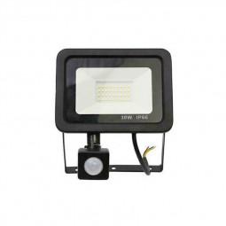 Outdoor Sensor Floodlight Security Light Flood LED with PIR Motion Sensor Slim Floodlight - 30W