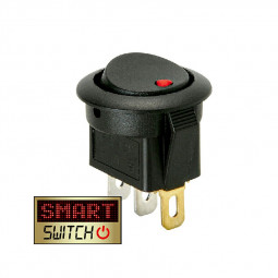 5 pcs ON/OFF Round Rocker Switch LED illuminated Car Dashboard Dash Boat Van 20A 12V - Red Light