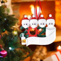 2020 NEW Xmas Christmas Tree Hanging Pendant Ornaments Family Ornament Decor - 4 Heads