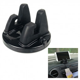 360 Degrees Silicone Rotating Car Dashboard Phone Holder Stand Table Cellphone Mount Stand - Black