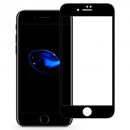 3D Full Cover Tempered Glass Screen Protector for Apple iPhone 7 8 - Black