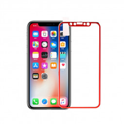 iPhone X/XS/11 Pro 3D Tempered Glass Metal Edge to Edge Screen Protector - Red