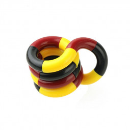 Tangle Fiddle Fidget Roll Anti-Stress ADHD Autism EDC Sensory Fingertoy Gift for Adult - Red + Black + Yellow