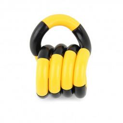 Tangle Fiddle Fidget Toy Anti-Stress ADHD Autism EDC Sensory Fingertoy Gift for Adult - Black + Yellow
