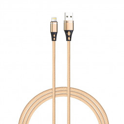 Nylon Braided Alloy Micro USB Charger Cable for Android Cellphone Devices - Gold