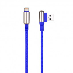 1 M Bullet Shape 8pin Charging Cable Durable Soft Braided Cable for iPhone - Blue