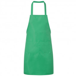 Plain Unisex Cooking Catering Work Apron Tabard with Twin Double Pocket - Green