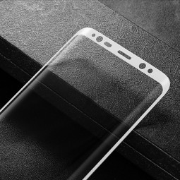 Samsung Galaxy Note 8 3D Curved Full Coverage Tempered Glass Screen Protector - White
