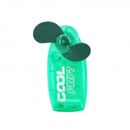 Mini Portable Pocket Fan Cool Air Hand Held Summer Fan Travel Blower - Green
