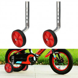 1 Pair Bicycle Stabilisers 12-20inch Universal Bike Training Wheels - Red
