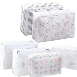 2 pcs Dustproof Large Storage Bags Clothes Laundry Duvet Pillows Shoes Underbed - Flamingo