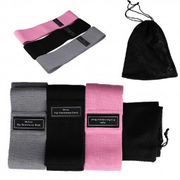 Resistance Bands 3 Strengths Heavy Duty Fabric Hip Circle Booty Bands Glutes - Pink