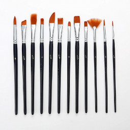12 pcs Artist Painting Brushes Set Professional Acrylic Oil and Watercolour Brush