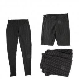 Women High Waist Yoga Pants Anti-Cellulite Leggings Sport Gym Honeycomb Trousers Workout Leggings - XL