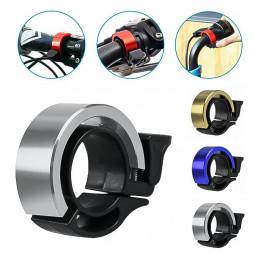 Bicycle Bell Aluminum Alloy Bike Alarm Handlebar Cycling Ring Loud - Silver