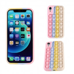 3D Fidget Rainbow Soft Silicone Case Restless Cover Back Case for iPhone XR