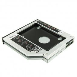 Universal 9.5mm SATA to SATA 2nd Enclosure SSD HDD Hard Drive Caddy Bracket - 9.5mm