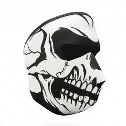 Unisex Windproof Full Face Mask Motorcycle Skiing Snowboarding Bike Facial Protector - White Skull