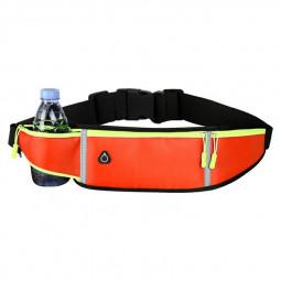 Holder Bag Waterproof Running Pouch Belt Waist Pack Fanny Pack for Bottle - Orange