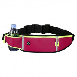 Holder Bag Waterproof Running Pouch Belt Waist Pack Fanny Pack for Bottle - Hot Pink